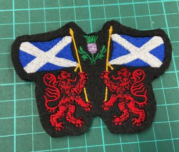 Scottish Flag with Red Lions Embroidered badge